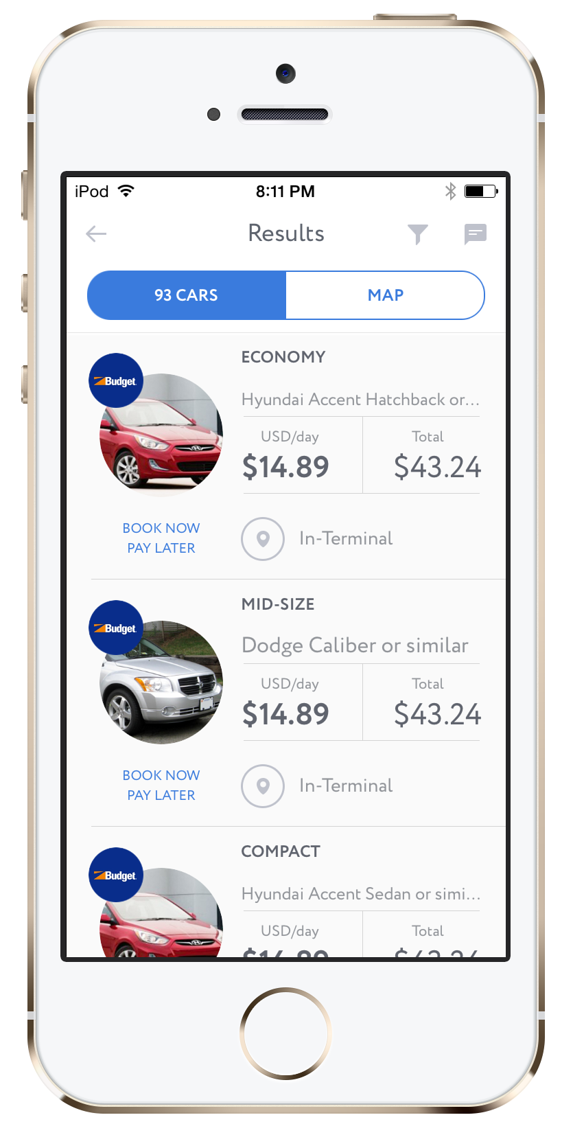 Carzup Car Rental App For Ios And Android Find The Best Deals On