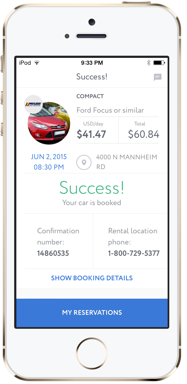 CarzUP - car rental app for iOS and Android: find the best